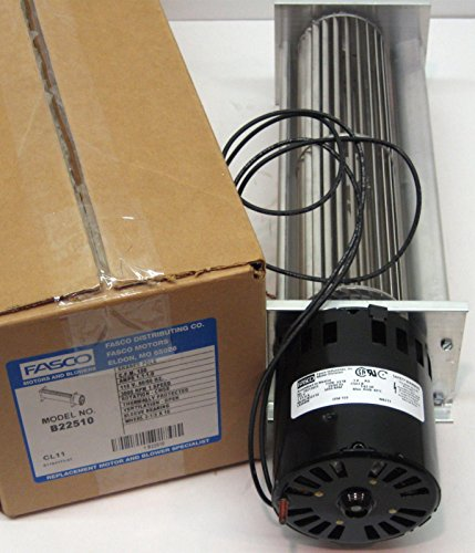Fasco B22510 Direct Drive Free Air Output Transflo Blower with Sleeve Bearing, 3100 RPM, 115V, 50/60 Hz, 1 Amp, 153 - Blower Transflo