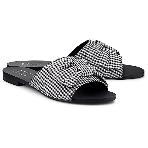 Another A Damen Trend-Pantolette Schwarz