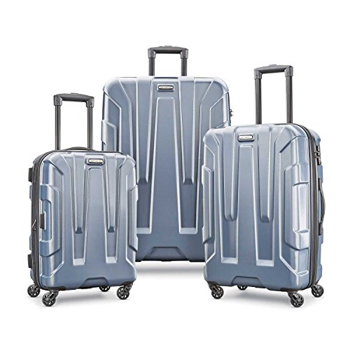 Samsonite Centric Expandable Hardside Luggage Set with Spinner Wheels, 20/24/28 Inch, Blue Slate