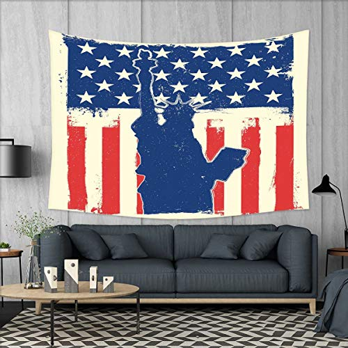 smallbeefly 4th of July Wall Hanging Tapestries Statue of Li