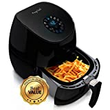 MegaChef Airfryer and Multicooker with 7 Pre-Programmed Settings in Sleek Black, 3.5 quart