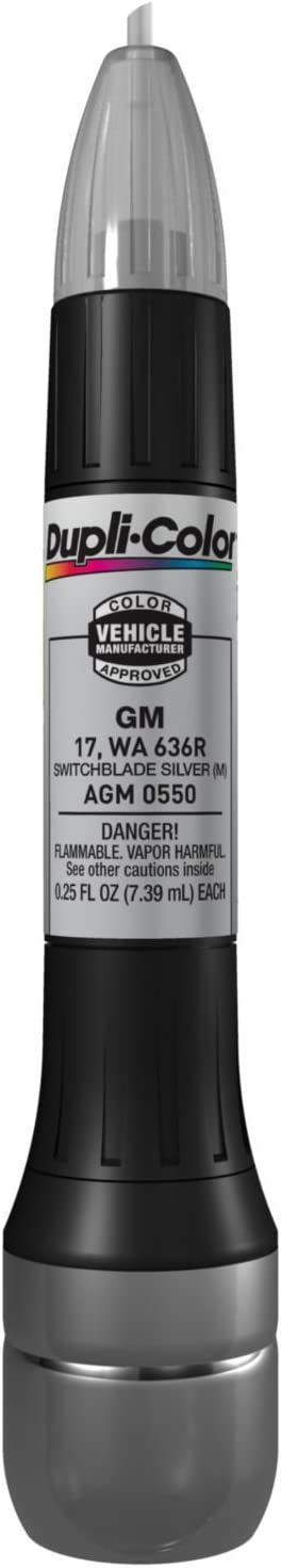Dupli-Color AGM0550 Metallic Switchblade Silver General Motors Exact-Match Scratch Fix All-in-1 Touch-Up Paint - 0.25 oz.