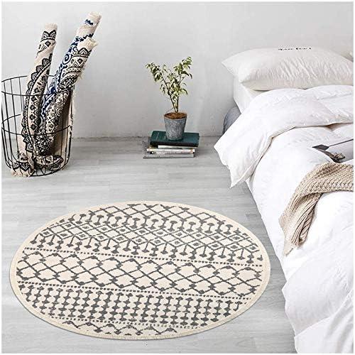 Pauwer - Alfombra redonda de algodón, 120 cm, lavable a máquina ...