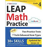 LEAP Test Prep: 4th Grade Math Practice Workbook and Full-length Online Assessments: LEAP Study Guide