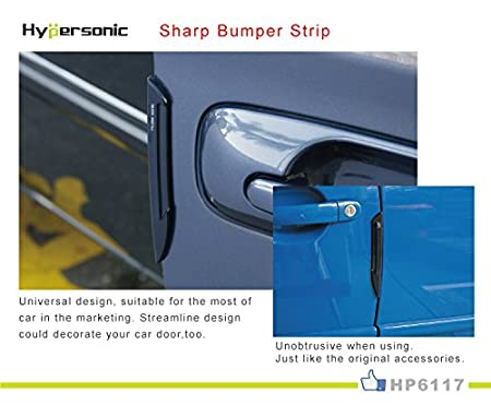 Amazon.com: Hypersonic 2 Pcs Set Black Car Door Edge Guard Bumper Protector Molding Trim: Automotive