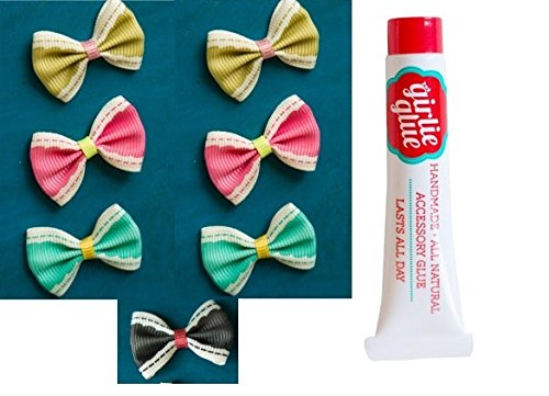 Girlie Glue with 7 Baby Hair Bows