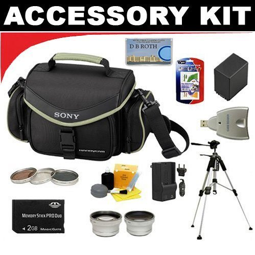 Deluxe Accessory Outfit for The Sony Handycam Camcorder DCR-SR220 ASONDCRSRK6 ()