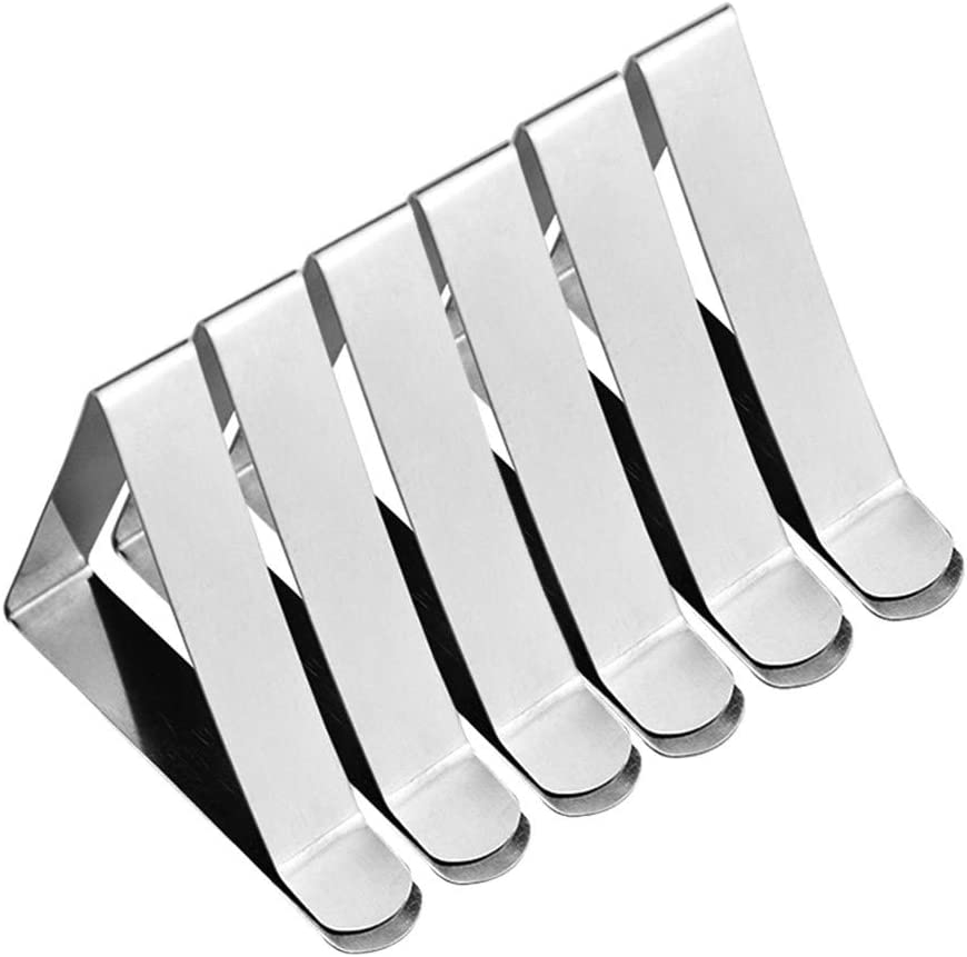 LISJFS 6PC Tablecloth Clips Table Cloth Clips for Picnic Tables Stainless Steel Picnic Table Cloth Holders Table Cover Clips Clamps