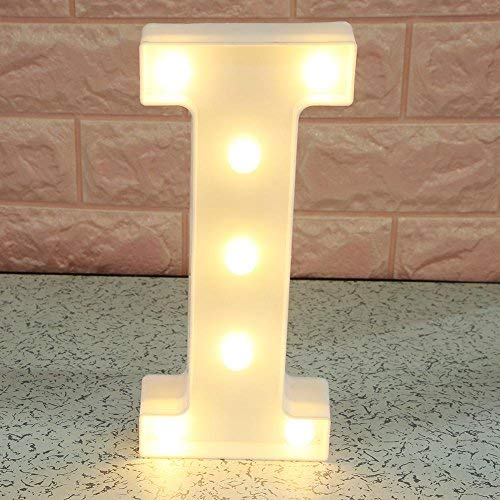 Alphabet Lamp (UNIhappy 3D Letter LED Night Light Wall Hanging Marquee Sign Alphabet Decor Lamp (I))