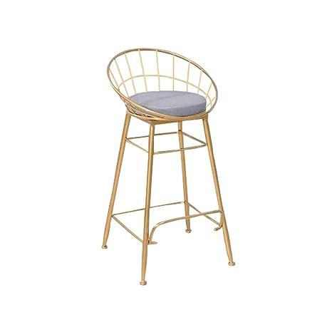 Phenomenal Amazon Com Jxyu Metal High Stool Bar Stool With Back Frankydiablos Diy Chair Ideas Frankydiabloscom