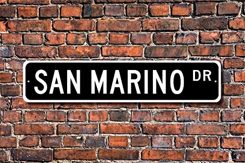 Fabri.YWL Metal Sign Post San Marino Gift Sign Souvenir San Marino Native San Marino Vacation Momento Plaque Wall Home Decoration Street -