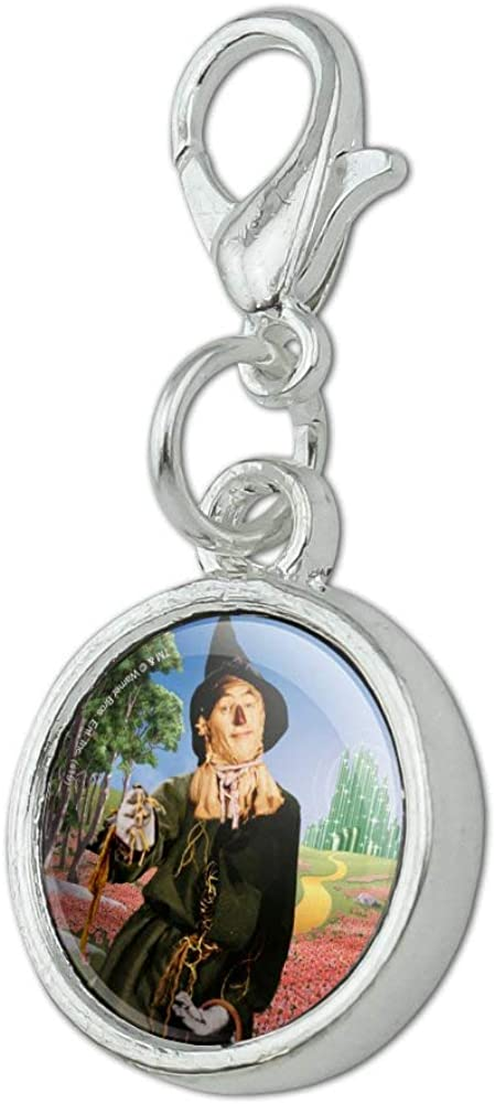 GRAPHICS /& MORE Wizard of Oz Scarecrow Character Antiqued Bracelet Pendant Zipper Pull Charm with Lobster Clasp