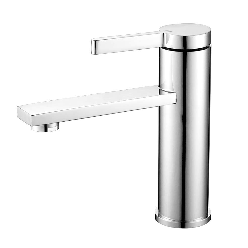 Silver(b) Tapfaucetwater tap,copper Single handle Single hole Hot and cold mixing Washbasin bathroom bathroom Sink faucet,Silver(A)