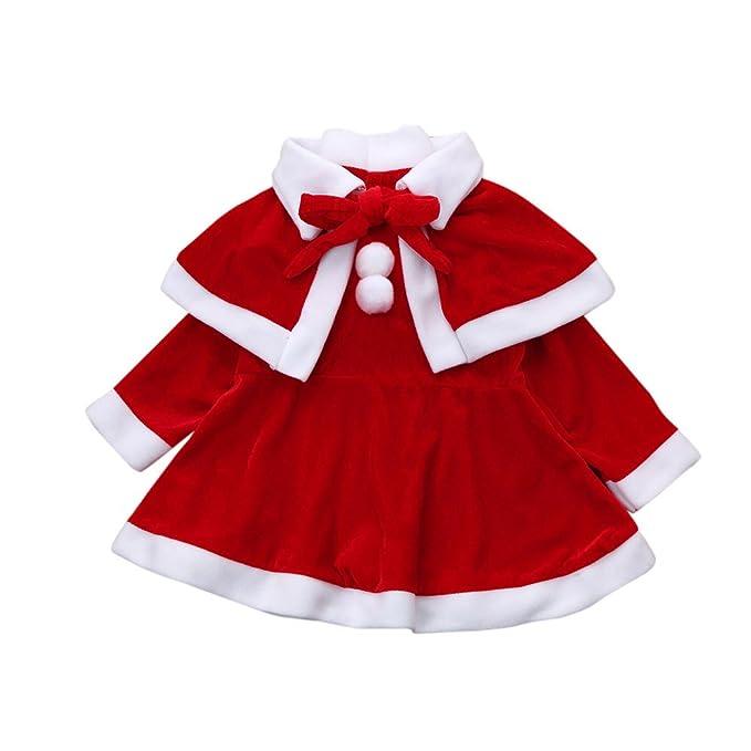 Amazon.com: Conjunto de vestido de Navidad con sombrero de ...