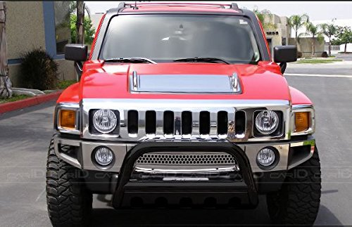 - R&L Racing Black HAMMERED Stainless Steel Bull Bar Brush Bumper Grille Guard Heavy Duty 06-10 HUMMER H3/H3T