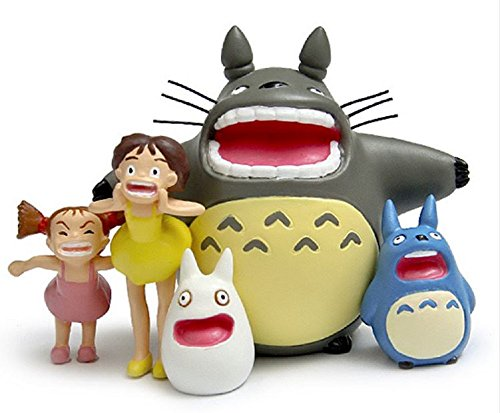 [Studio Ghibli My Neighbor Totoro Shouting Totoro Satsuki Mei Resin Action Figure Toy Classic Toys for Garden Ornaments] (Mr Gold Lego Costume)
