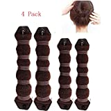 MiLanNuo 6 Pack Hot Buns Hair Elegant Magic Style Bun Maker - Brown