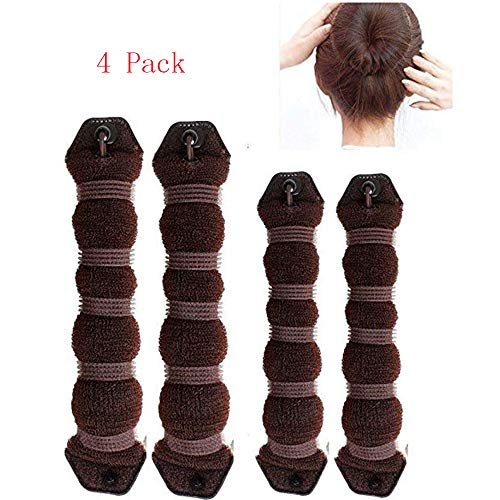 MiLanNuo 6 Pack Hot Buns Hair Elegant Magic Style Bun Maker - Brown by MiLanNuo