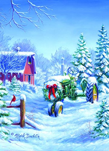 Performing Arts Full Color Inside Christmas Tractor Stationery Paper 52546 18