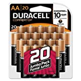 Duracell Coppertop AA Batteries Retail Pack 20-Count (Pack of 3)