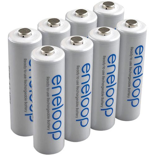 SANYO NEW 1500 eneloop 8 AA batteries and 8 AAA Ni-MH Pre-Charged Rechargeable Batteries by Sanyo (Image #2)