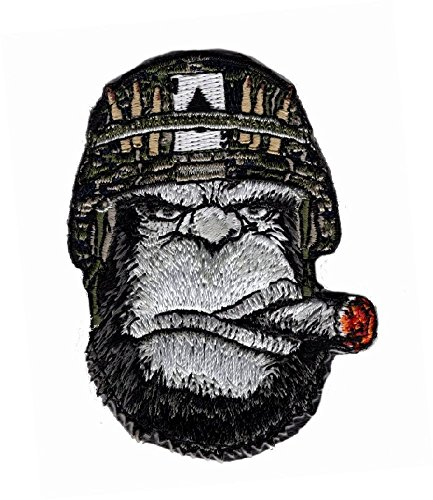 Ape Victory Cigar Embroidered 3 inch Morale Patch (Iron on Sew on)