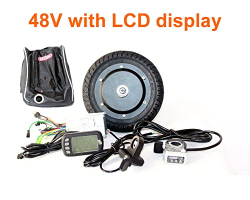 L-faster 350W 8 INCH Electric Scooter BRUSHLESS HUB Motor KIT CAN with LCD Display WUXING Throttle DIY Electric Scooter Town 7 XL (FLD48V LCD)
