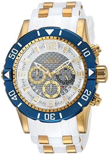 (Invicta Men's Pro Diver Stainless Steel Quartz Diving Watch with Polyurethane Strap, Two Tone, 26 (Model:)
