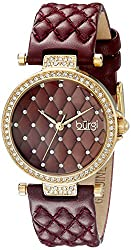 Women's Diamond & Crystal Accented Quilted Design Watch