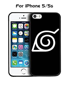 Iphone 5s Funda Case Comics Naruto Logo Solid Anti Slip Customized Impact Resistant Ultra Slim Compatible with Iphone 5 / 5s