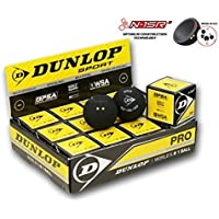 pelotas DUnlop Pro Squash caja de 12 Nuevo