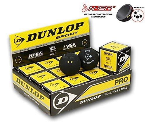 Dunlop Pro Squash Balls - Boîte de 12 Neuf