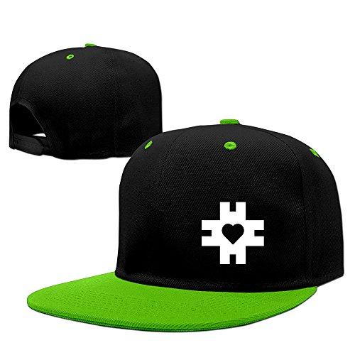 BestSeller Unisex Heart Hip Hop Snapback Adjustable Baseball Caps/Hats KellyGreen