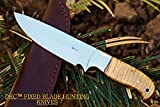 DKC Knives (0 6/18) SALE DKC-511-440c TRAIL BLAZER Fixed Blade Stainless Steel Hunting Knife Olive Wood Burl Handle 9'' Long, 5.5'' Blade 8oz Work of Art !