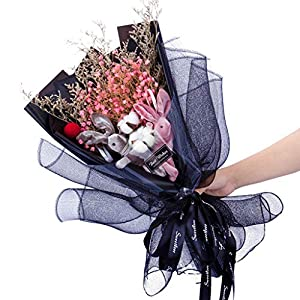 Wedding Bouquet, LtrottedJ Dried Flower Bouquet Creative Valentine's Day Gift Home Wedding Decor 2