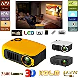 babyon Portable Mini Projector - A2000 HD Home Theater Movie Projector Multimedia Video Projector, 20W 12V Single LCD Screen Projector Video Projector