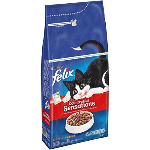 FELIX Sensations Katzenfutter trocken, Sorten-Mix, verschiedene Größen