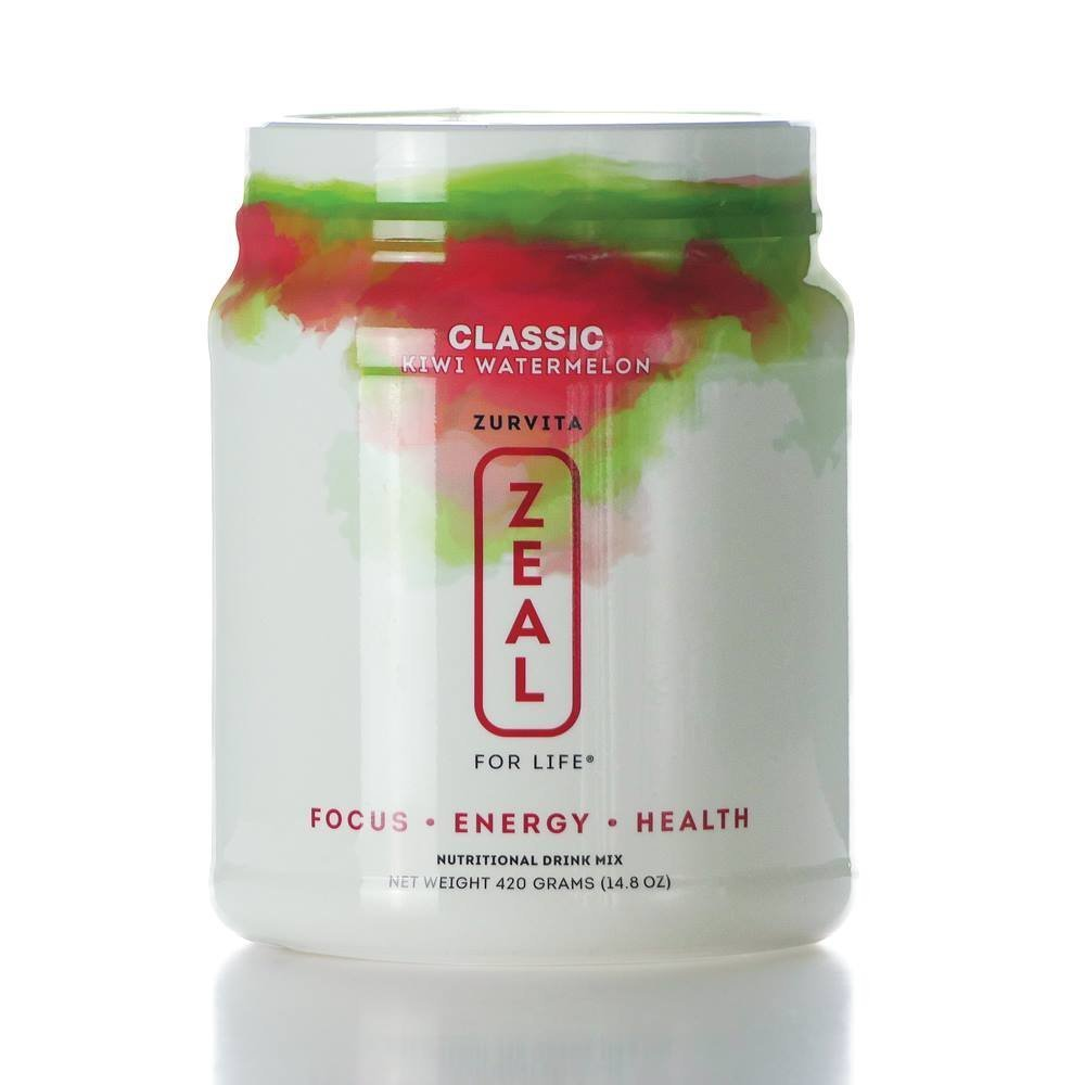 Zeal for Life Classic Formula Wellness - Kiwi Watermelon Canister - 420 grams