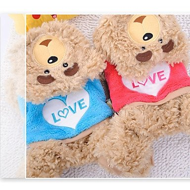 Red XXS Red XXS Y-Hui Dog Costume Dog Clothes Casual Daily Cartoon bluee Red,Xxs,Red