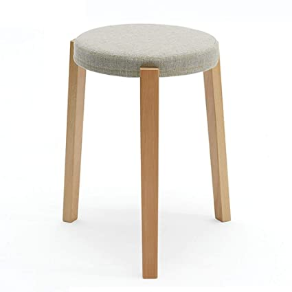 Brilliant Amazon Com Wooden Bench Solid Wood Stool Fabric Dining Gmtry Best Dining Table And Chair Ideas Images Gmtryco