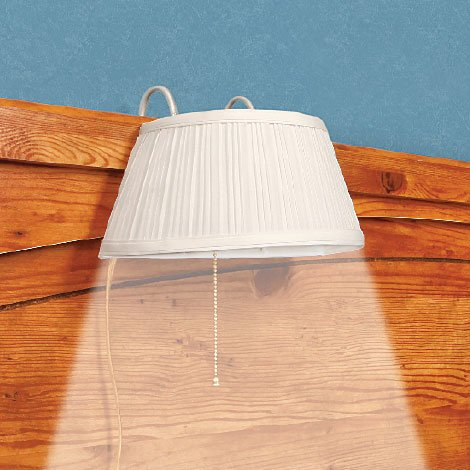 Amazon.com: Designer White Over Headboard Bed Lamp Light Night ...
