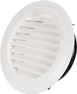 Hon&Guan 8'' Air Vent Louver Air Grill Cover for Bathroom Office Home (ø200mm)