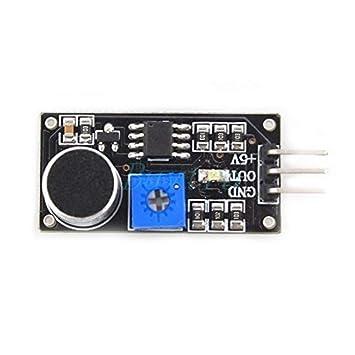 Hemore 1 PCS Sonido Sensor Detector Voz Sensor Tester módulo vehículo Inteligente para Arduino Hot UK05 Negro: Amazon.es: Electrónica