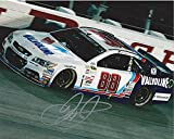 AUTOGRAPHED 2015 Dale Earnhardt Jr. #88 Valvoline Racing DARLINGTON THROWBACK CAR (Hendrick Motorsports) On-Track 8X10 Inch Signed Picture NASCAR Glossy Photo with COA