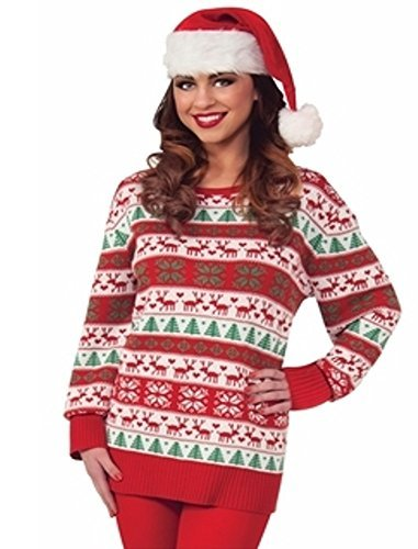 Forum Novelties Winter Wonderland Novelty Christmas Sweater, Multi, Large -