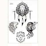 WENSY Fashion Waterproof Tattoo Stickers Temporary Fake Tattoos Flower Sticker for Arm Shoulders Waist Chest & Back