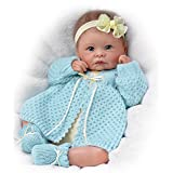 Sweetly Snuggled Sarah  So Truly Real Lifelike & Realistic Weighted Newborn Baby Doll 16-inches by The Ashton-Drake Galleries