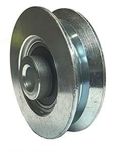 "Interior Sliding Barn Door V-Groove Steel Wheel Kit - 2-3/8"" x 5/8"" by Mapp Caster"