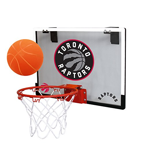 fan products of NBA Toronto Raptors Game On Indoor Basketball Hoop & Ball Set, Regular, Black