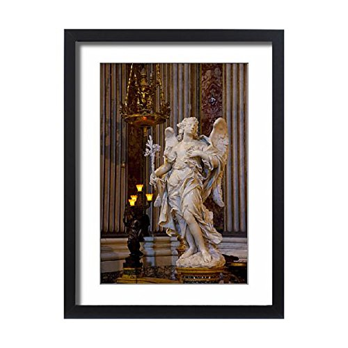 Media Storehouse Framed 24x18 Print of Angel Statue inside Chiesa di Sant Ignazio in Rome Italy (13939525) by Media Storehouse